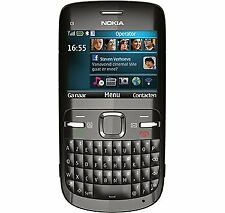 Nokia C3-00 - Black Qwerty (Unlocked) Smartphone