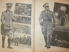 ARTICOLO IL RE VITTORIO EMANUELE III -  IL DUCE BENITO MUSSOLINI   -- 1938