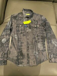 Authentic Versace Jeans Chambray palm optical shirt size S