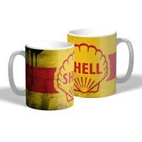 Shell Oil Mug Oil Can Effect Vintage Car Motorbike Mechanic Tea Coffee Mug Gift