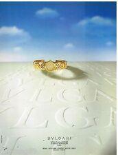Publicité Advertising 1987 Bijoux montre BULGARI