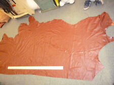 Burnt Red Real Leather Upholstery cow Hide 24 sq ft Craft Bag 1.1 mm wsh8e