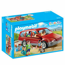 PLAYMOBIL Family Car with Trailer Hitch - Family Fun 9421
