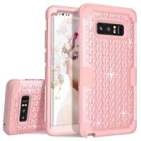Samsung Galaxy Note 8 Case Glitter Bling Crystal Diamond Girly Rhinestone