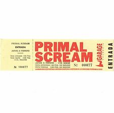 PRIMAL SCREAM Concert Ticket Stub VALENCIA SPAIN 2/8/90 GARAGE Rare