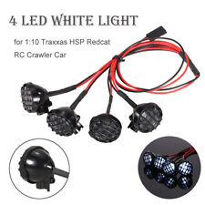 4 LED White Light with Lampshade for 1:10 1/8 Traxxas HSP Redcat RC Crawler Car