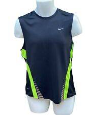 New NIKE DriFit Stay Cool Mens Running Gym Fitness Top Shirt Vest Black M