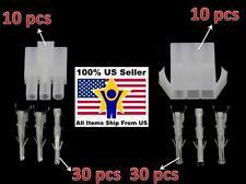 10pairs 3pin Big White Tamiya connector plug RC car/airsoft LiPo/NiMh Battery