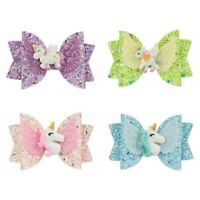 Baby Sequin Bow Unicorn Hair Clip Headband  Kids Hairpin Accessories Lemow xkj