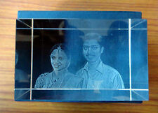 Personalized rectangular 3D Crystal Cube High End Laser Engraved Your Own Image!