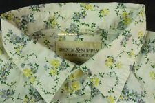 $70 Ralph Lauren DENIM & SUPPLY Flower Shirt MEDIUM Cream White slim flower M