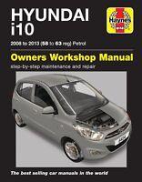 Hyundai i10 2008 - 2013 58 to 63 Petrol Haynes Repair Manual 6414