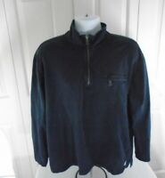 Nautica Mens  Long Sleeve Large 1/4 Zip Pullover Blue Cotton
