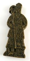 """Vintage Wax Cast of St. Nicholas from 18th Century German Gingerbread Mold, 10"""""""