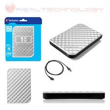 Verbatim 53197 Store 'n' Go USB 3.0 Hard Drive 1TB Silver Hdd - 2.5