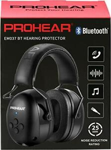 PROHEAR 037 Wireless Bluetooth Ear Defenders, Rechargeable Hands-Free Calling