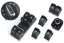 Für VW Passat 3C CC Alu Fensterheber Schalter Lichtschalter Spiegelschalter Set-