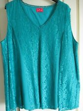 TOGETHER GREEN LACE TOP SIZE L