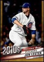 Jon Lester 2020 Topps Decade's Best Series 2 5x7 Gold #DB-100 /10 Cubs