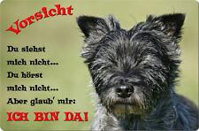 CAIRN Terrier - A4 Metall Warnschild Hundeschild SCHILD Türschild - CRT 09 T2