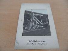 uralt Foto Standmotor Stationärmotor Freifallbohrmaschine Dresden Brunnenbau