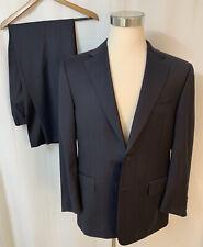 Beautiful Current Canali 1934 Wool Navy Blue Suit Men's Size 42S (Pants 36x29)