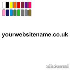 1 x WEBSITE ADDRESS NAME FOR CAR / VAN / WINDOW / SHOP VINYL STICKERS / DECALS