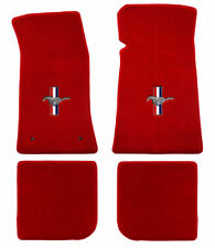 LLOYD Heavy Plush™ 4pc Red FLOOR MAT SET 1964 to 1973 FORD MUSTANG convertible