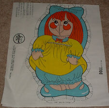 Vintage Old Fashioned Doll Cut & Sew Fabric Panel- Poly-Fil #LS514 - Adorable