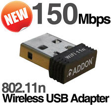 Addon Mini 150Mbps Wireless USB Adapter WiFi NANO Dongle 802.11n NWU275v3