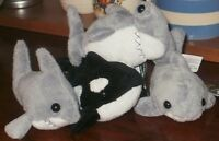 "5"" Sea Creature Beanie Soft Toy Gift Shark Dolphin Great White Hammerhead Kids"