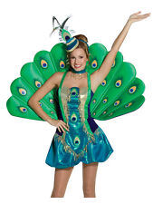 Adult Peacock Exotic Animal Costume Xs-M Fancy Dress Brand New