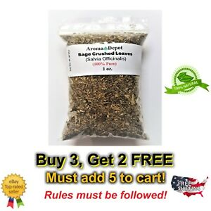 1oz Sage Crushed Leaves Salvia Officinalis Leaf Non GMO Natural Pure