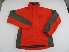 MARMOT Mens Orange Waterproof Hiking Rain Jacket Size Small Tamarack Ski Snow