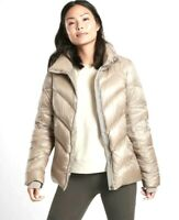 Athleta Lofty Down Puffer Jacket Quail Womens Size XL New With Tags MSRP $198