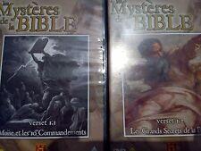 Lot de 4 DVD Les Mystères de la BIBLE The History Chanel Voir titres sur photos