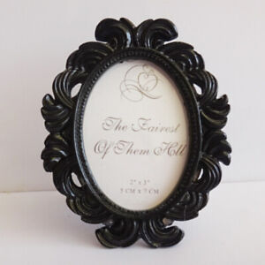 Vintage Oval Resin Small Photo Frame Picture Holder Home Wedding Table Ornaments
