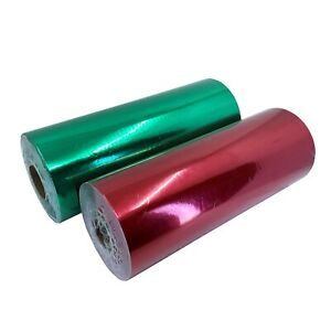 "Jewelry 7.5""x150' Red & Green Glossy Gift Wrapping Paper Roll Christmas Holiday"