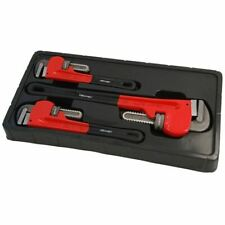 3pc  Stilsons Pipe Wrench Adjustable Tool Set Monkey Wrench Plumbers Pliers