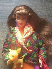 1990 Vintage Barbie Benetton Teresa Doll, Fashion, Accessories & Stand.