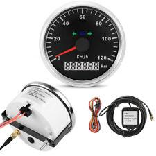 85mm Mortorcycle GPS Analog Speedometer Gauge Digital Odometer KMH LED Indicator