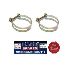 """UTILUX HOSE CLAMPS (2) GOLD IN COLOUR 1.88""""  SUIT FORD HOLDEN RARE SPARES"""