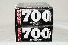 Kenda 700x23-25c Presta 48mm Valve inner tubes bike bicycle 2 Pack New
