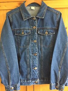 Cotton Traders 100% Cotton Denim Jacket Size 16
