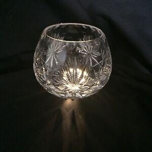 Edinburgh Crystal Star Of Edinburgh Tea Light Candle Holder