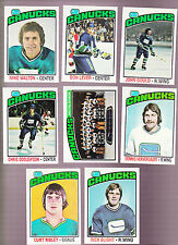 1976 Topps Team SET Lot of  Vancouver CANUCKS NM LEVER WALTON