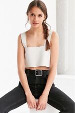 Urban Outfitters Silence + Noise Jensen Leather White Tank Top Large Boho $189