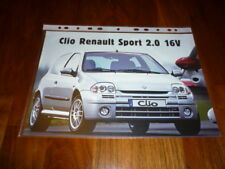 Renault Clio SPORT 2.0 16V Prospekt 09/1999