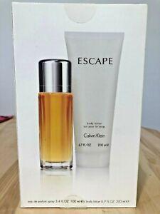 Escape By Calvin Klein 2 Pcs Set 3.4 oz Edp + body lotion 6.7 oz Spray Women