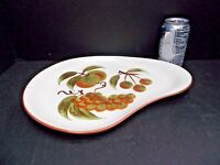 Vintage Stangl Orchard Song Kidney Shaped Platter Mid Century Modern 1960s 70s